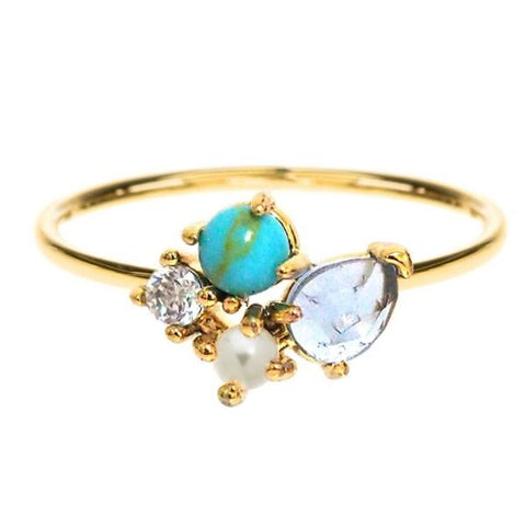 Cluster stone Ring