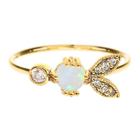 Ring With Opal Center