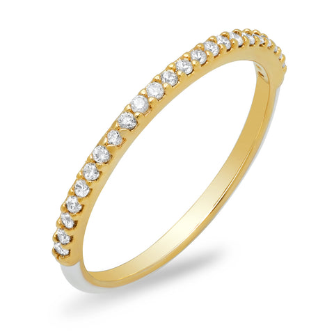 Enamel Pave Band