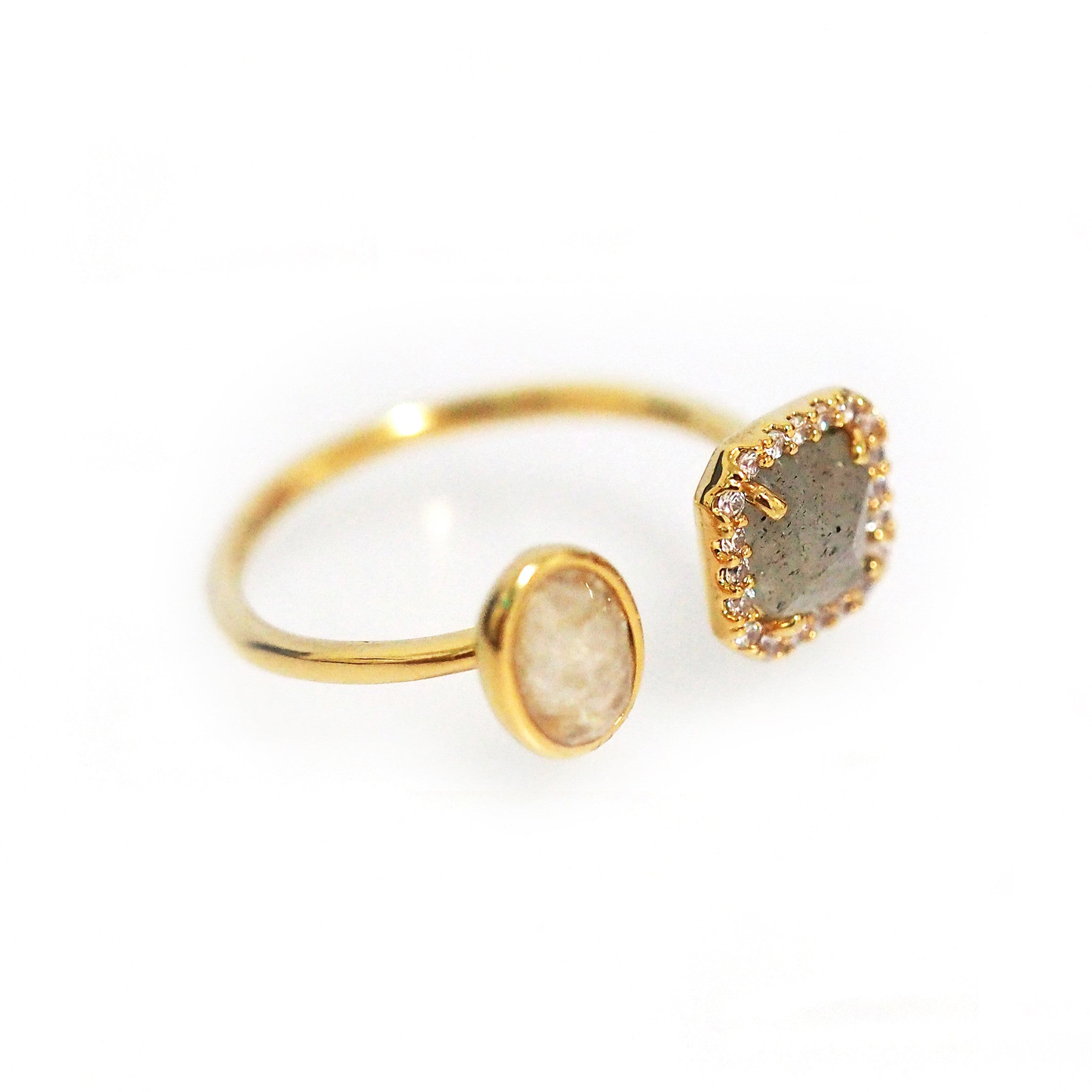 gold rings and small solid pin ring diamond starburst