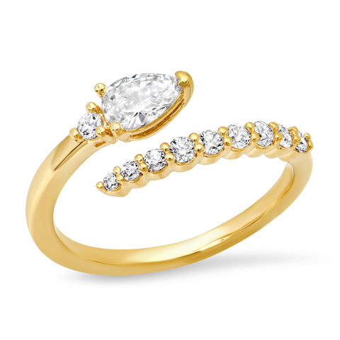 Pave CZ Open Ring