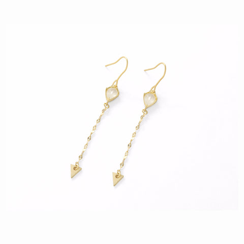 ARROW DROP EARRINGS WITH GLASS