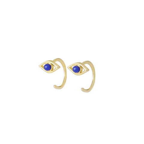 EVIL EYE HUGGIE EARRINGS