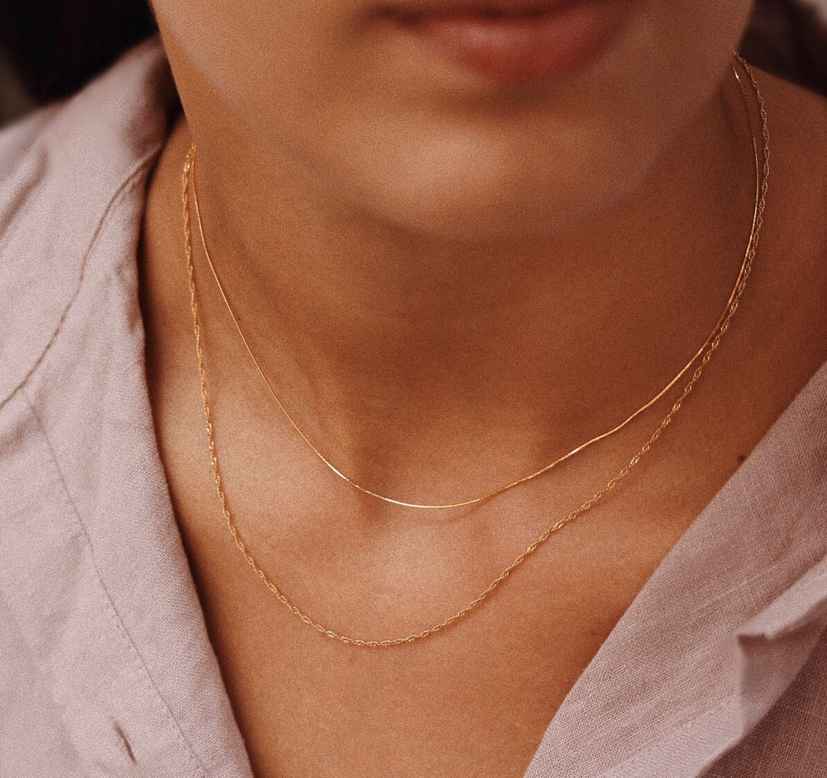 Ladder Chain Necklace
