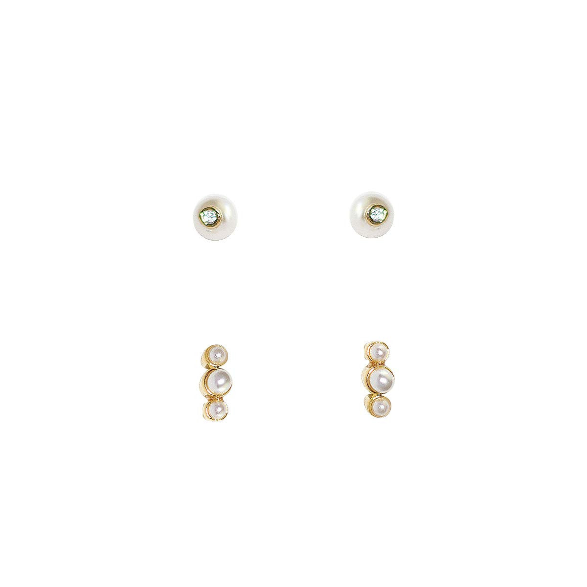 MINI PEARL SET OF 2 EARRINGS