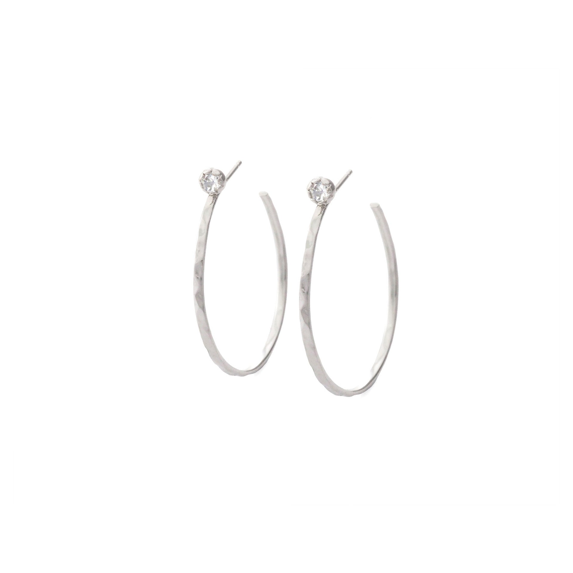 SMALL HOOP EARRINGS WITH STUD