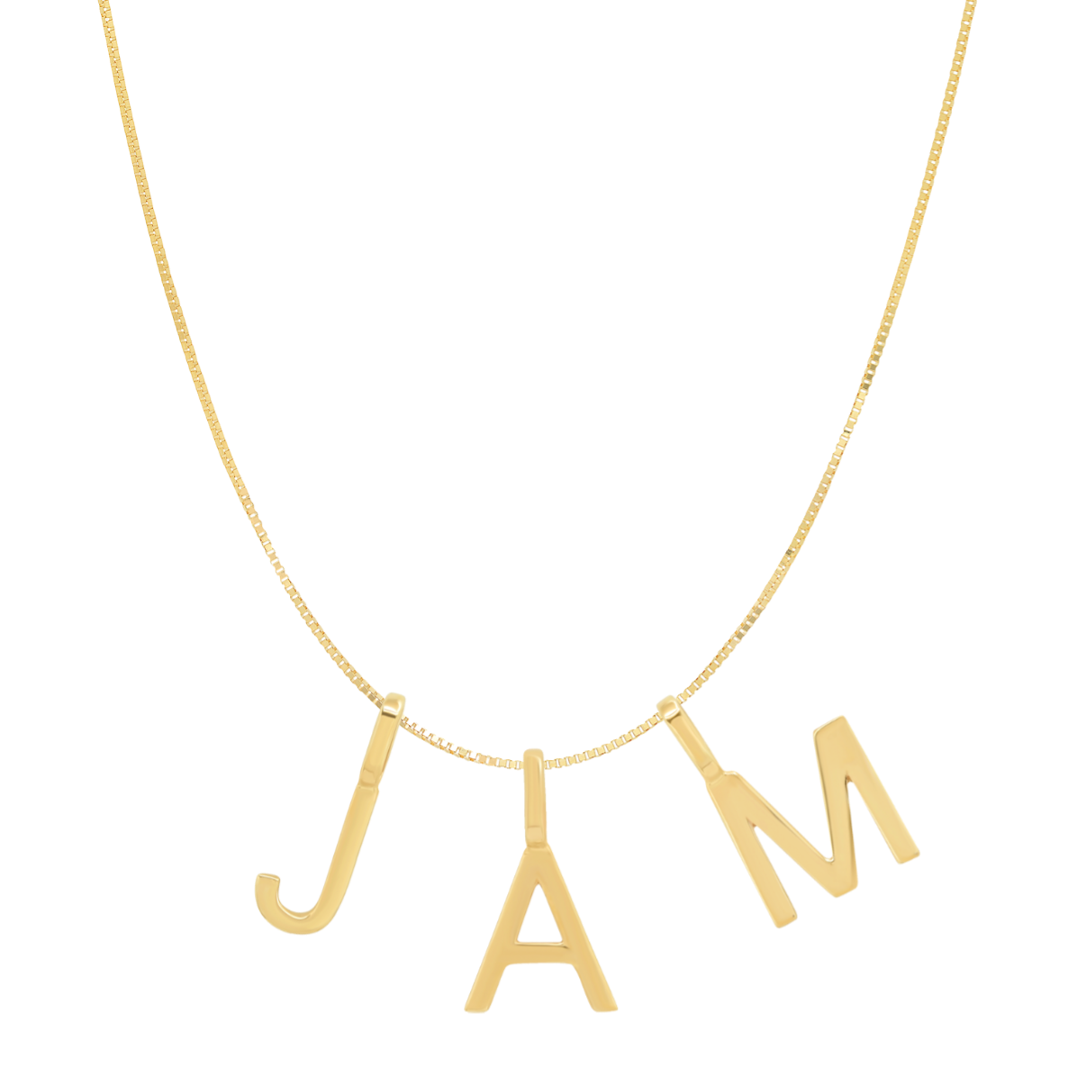 Tai Fine 14k Gold Initial Charm Necklace - Customer's Product with price 385.00