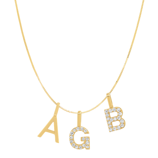 Tai Fine 14k Gold Initial Charm Necklace - Customer's Product with price 635.00