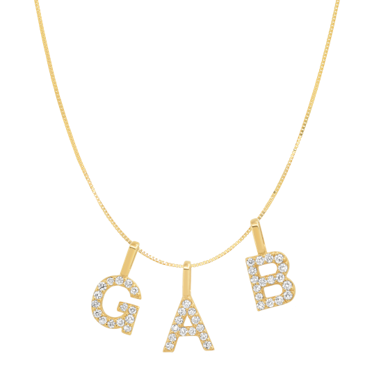 Tai Fine 14k Gold Initial Charm Necklace - Customer's Product with price 760.00