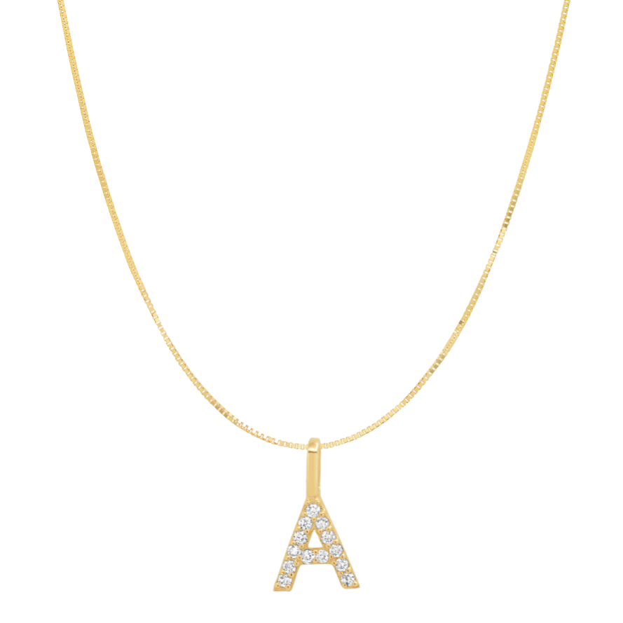 Tai Fine 14k Gold Initial Charm Necklace - Customer's Product with price 330.00 ID 3vbmp08_9kqC8TNfoFgaLHXO