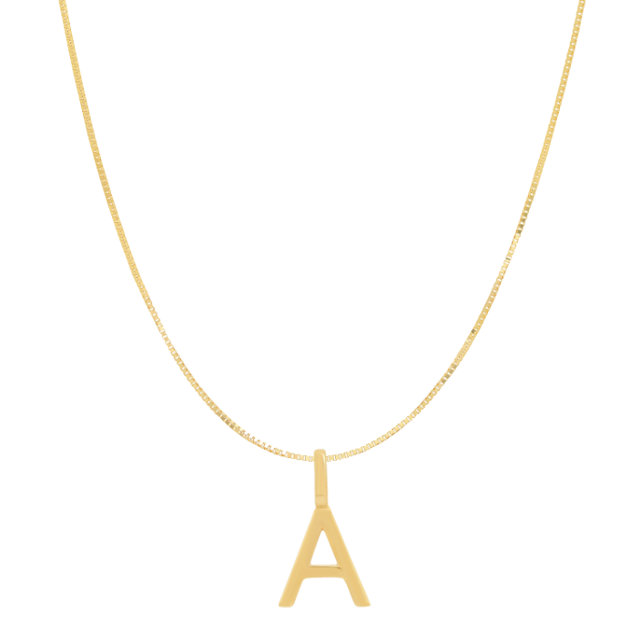 Tai Fine 14k Gold Initial Charm Necklace - Customer's Product with price 205.00
