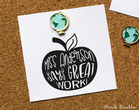 Personalized Teacher Stamp, Teacher Stamp for Grading or Teacher Gifts - PinkPueblo