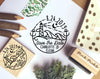 Save the Date Stamp with Beach, Beach Destination Wedding Stamp - PinkPueblo