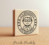 Personalized Birthday Stamp for Boys, Custom Rubber Stamps for Birthday Party - Choose Hairstyle and Accessories - PinkPueblo