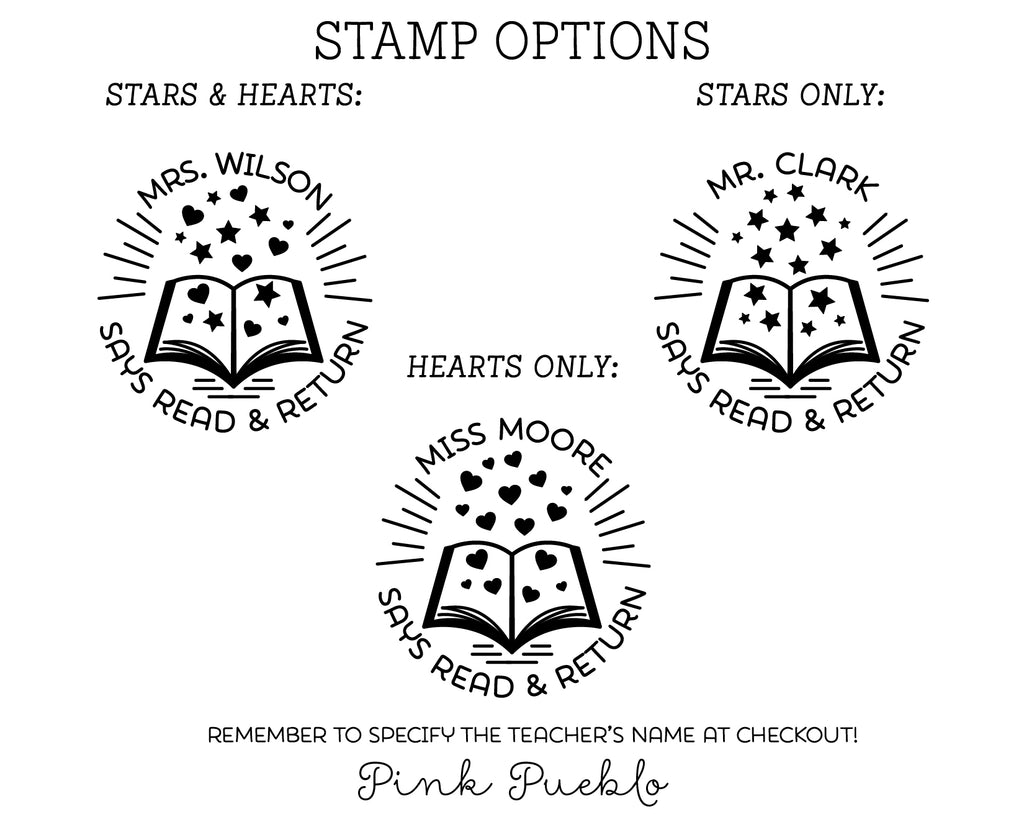 self inking teacher book stamp personalized from the library of