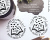 Self Inking Teacher Book Stamp, Personalized From the Library of Stamp, Teacher Stamps