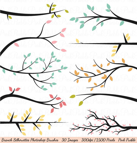 Branch Silhouette Photoshop Brushes - PinkPueblo