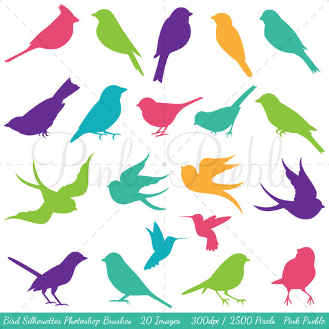 Bird Silhouettes Photoshop Brushes - PinkPueblo