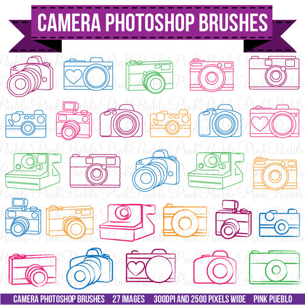 Camera Photoshop Brushes - PinkPueblo