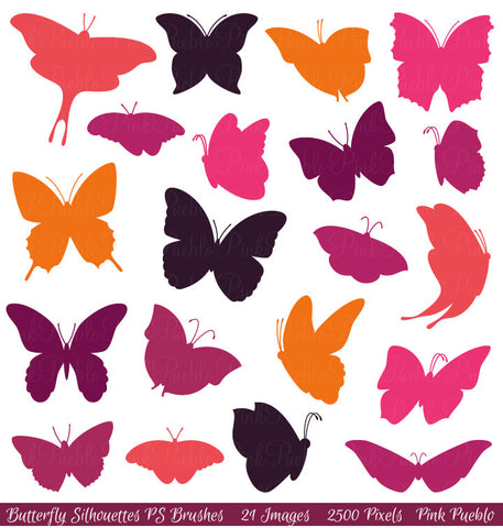 Butterfly Photoshop Brushes - PinkPueblo