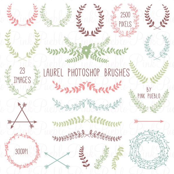 Laurel Photoshop Brushes - PinkPueblo