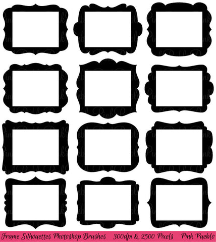 "8.5"" x 11"" Frames Photoshop Brushes"