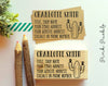 Personalized Cactus Business Card Stamp, Custom Business Card Rubber Stamp - PinkPueblo