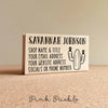 Personalized Cactus Business Card Stamp, Custom Business Card Rubber Stamp