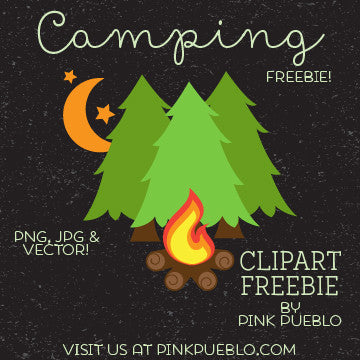 Camping Freebie - Great for Camping and Glamping Invites - PinkPueblo