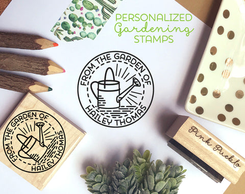 Personalized From the Garden of Stamp, Gardener Gift, Gardening Gift, Canning Label Stamp