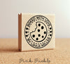 Personalized Baked with Love Rubber Stamp, Cookie Stamp For Baking Gifts or Baked Goods Labels - PinkPueblo