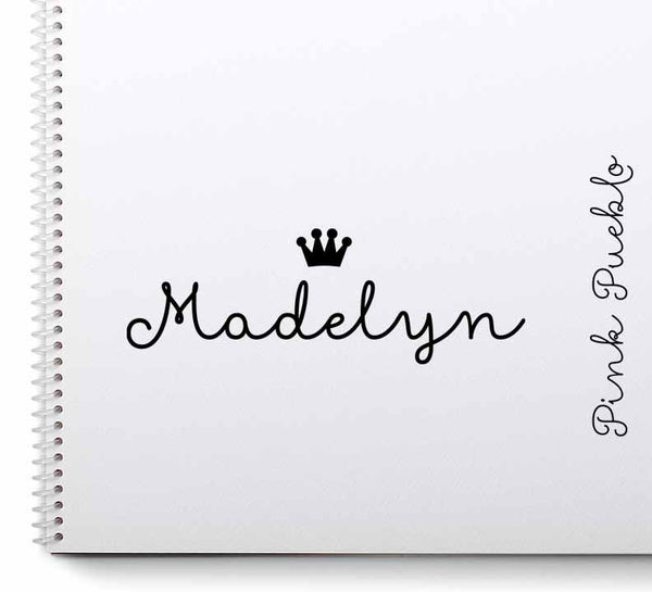 Personalized Princess Name Stamp with Crown