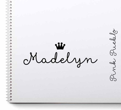Personalized Princess Name Stamp with Crown - PinkPueblo
