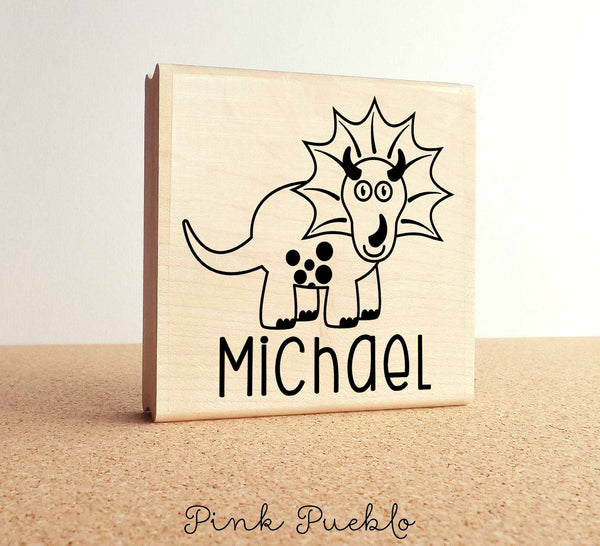 Large Personalized Dinosaur Stamp with Name