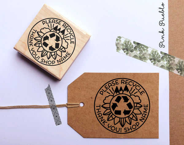 Personalized Recycle Stamp, Please Recycle Stamp for Packaging, Shipping and Mailing