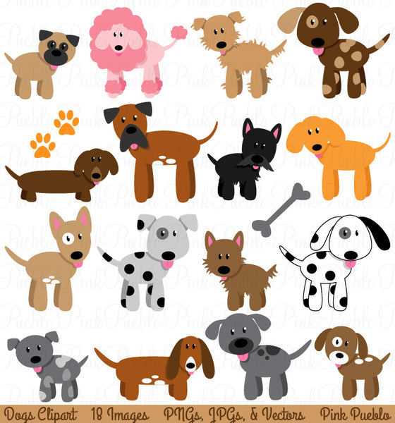 Dog and Puppy Clipart and Vectors - PinkPueblo