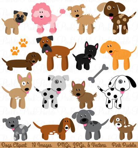 Dog and Puppy Clipart and Vectors