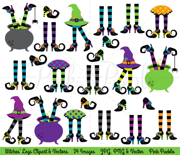 Witches Legs Clipart & Vectors - PinkPueblo