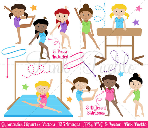 Gymnastics Clipart and Vectors - PinkPueblo
