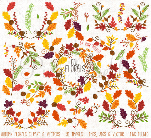 Thanksgiving Flower Clipart and Vectors - PinkPueblo