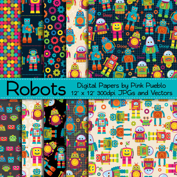Seamless Robot Patterns or Papers