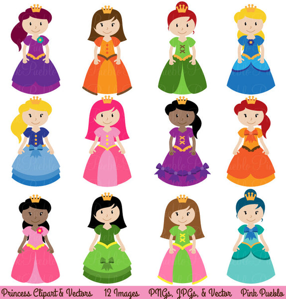 Princess Clipart and Vectors - PinkPueblo