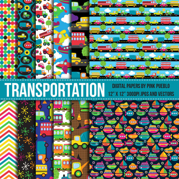 Transportation Papers or Backgrounds - PinkPueblo