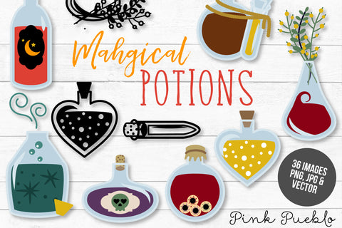 Magic Potion Clipart & Vectors - PinkPueblo