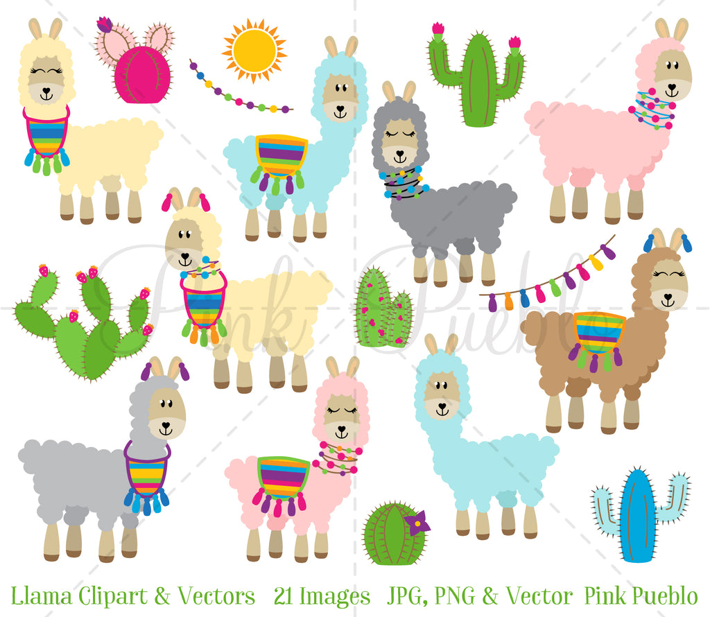 Cute Llamas with Spring Flowers Clipart Spring Alpaca Llama | Etsy | Llama  clipart, Cute llama, Baby clip art
