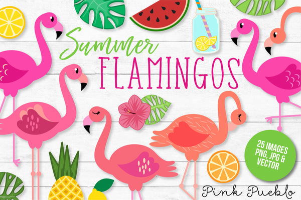 Flamingo Clipart and Vectors - PinkPueblo
