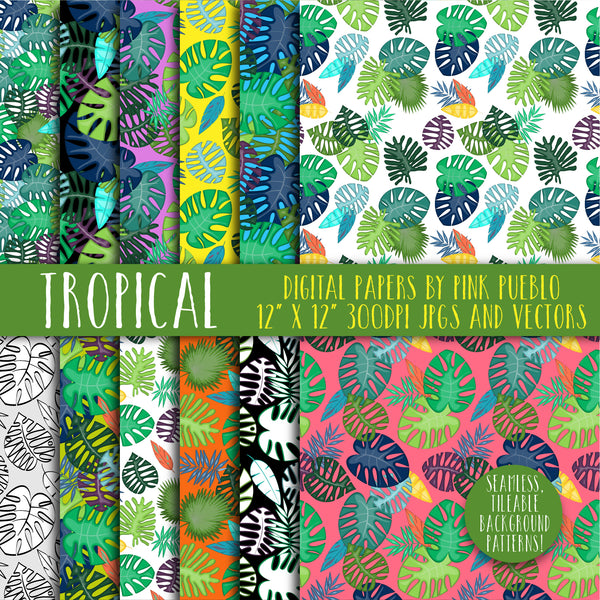 Tropical Leaf Patterns and Backgrounds