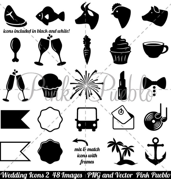 Wedding Icons 2 Clipart