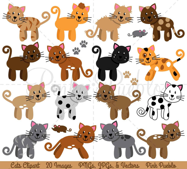 Cats Clipart and Vectors - PinkPueblo