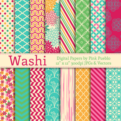 Digital Papers, Patterns and Backgrounds – PinkPueblo